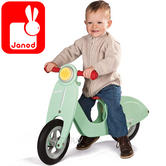Janod Mint Wooden Push Scooter | Adjustable Seat Height of 32 to 36.5cm | +3 year
