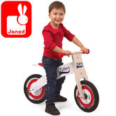 Janod Bikloon Red/White Balance Bike with Helmet | Adjustable Height of 32 to 35cm | +2 year