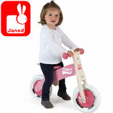 Janod My First Pink Little Bikloon Balance Bike | Adjustable Height of 32 to 35cm | +2 year