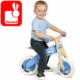 Janod My First Blue Little Bikloon Balance Bike | Adjustable Height of 32 to 35cm | +2 year