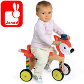 Janod Baby Forest Ride On Wooden Fox Toy | Height of 22.8cm | +1 year to 3 Year