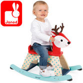 Janod Baby Forest Rocking Wooden Fawn Toy | Height of 24cm | +1 to 2 Years