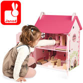 Janod Mademoiselle Doll's 2 Floor Wooden House | Imaginative Playset | +3 to 8 years