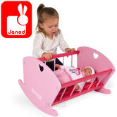 Janod Mademoiselle Rocking Craddle | Baby/Toddler's Imaginative Playset | +3 to 6year