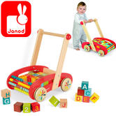 Janod Tatoo ABC Buggy Trolley with 30 Blocks | Baby's Educational Playset | +1year