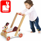 Janod Crazy Cart Rabbit ( Wooden Trolly) | Baby's Interactive Playset | +1 year