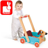 Janod Crazy Cart Doggy ( Wooden Trolly) | Baby's Interactive Playset | +1 year