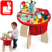 Janod Baby Forest Activity Table | Baby's Educatinal Playset | Learn Shapes & Colour | +1 year
