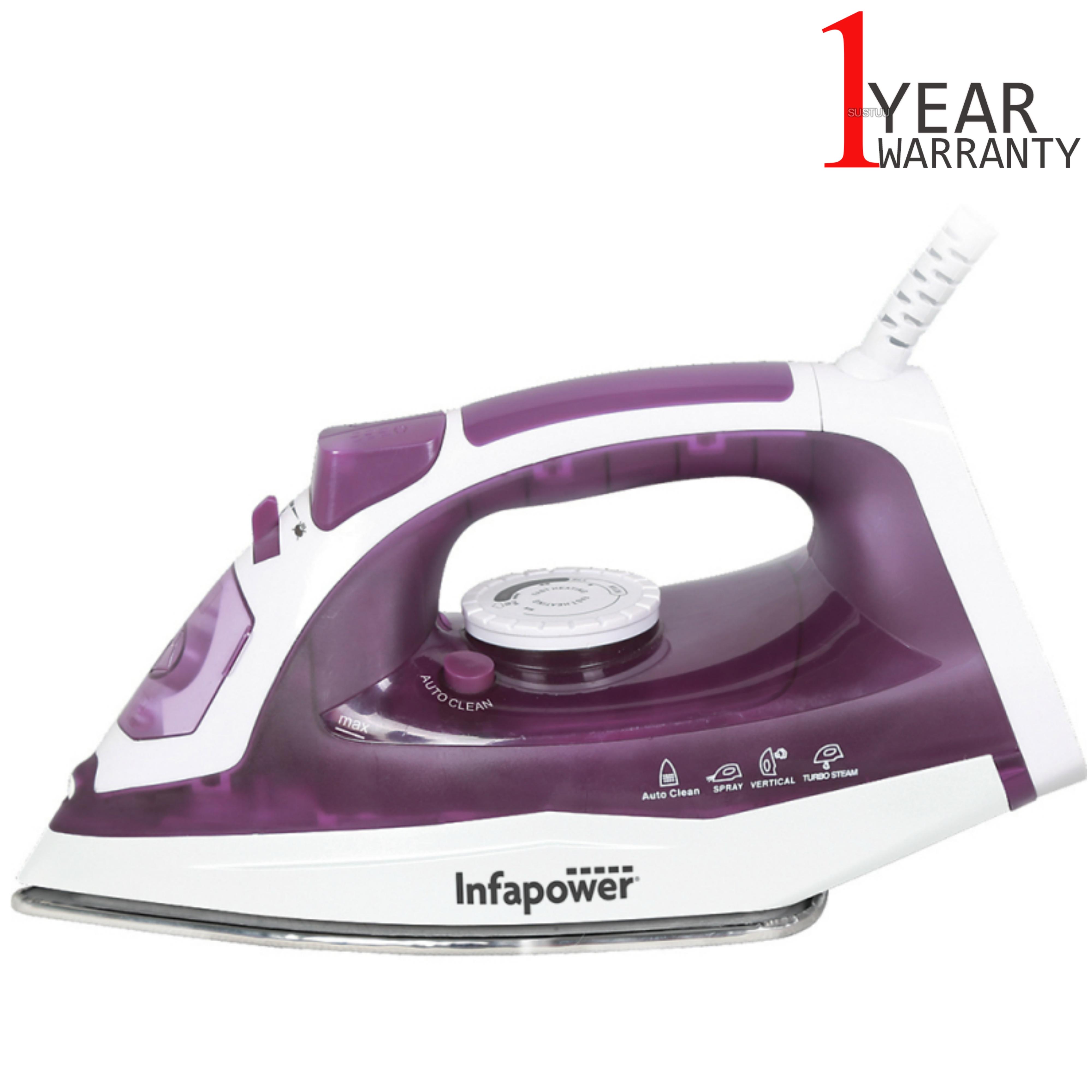 Infapower X603 Spray/Steam/Dry Iron?Self Clean | 2400W | Steel Soleplate | Purple | NEW