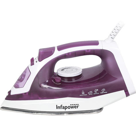 Infapower X603 Spray/Steam/Dry Iron?Self Clean | 2400W | Steel Soleplate | Purple | NEW Thumbnail 2