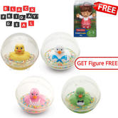Fisher-Price Baby's Watermates Bath Toy | Water-filled Ball | 3m | FREE Little Figure