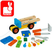Janod Original DIY Truck | Includes 3 Tools & 14 Wooden Pieces + Pull Stirng | +2 Year