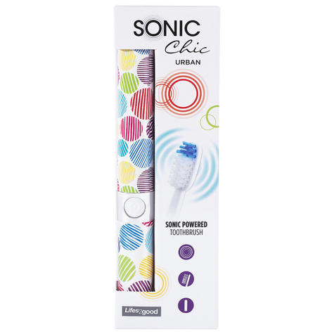 Sonic Chic Urban Twister Travel Toothbrush | Replacement Brush Head + Battery | NEW Thumbnail 4