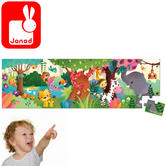 Janod Hat Boxed Panoramic Puzzle Jungle 36pcs | Includes 36 Illustrated pieces | +4 To 7 Years
