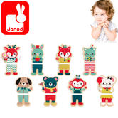 Janod Baby Forest Magnets 8Pk   Includes Wooden Pieces + Magnetic Element   2 to 4 Year