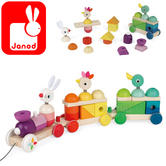 Janod Zigolos Giant Multicolour Train   Includes 25 Stackable Pieces   1 to 3 years