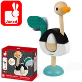 Janod Zigolos Ostrich Stacker | Ostrich Inspired Wooden Toy | 1 to 3 Years