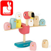 Janod Zigolos Balancing Game Flamingo | Includes 10 Chicks Pieces | 3 to 6 Years