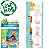 Leap Frog LeapReader Human Body Chart/ Discovery Set  | Educational Accessory | +4 To 8 Year