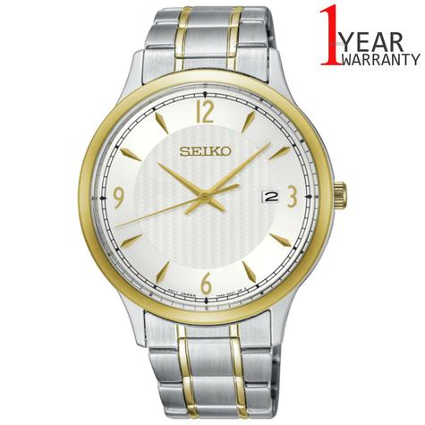 Seiko Mens Solar Powered Stainless Steel Watch | Silver-Tone White Dial | SGEH82P1 Thumbnail 1