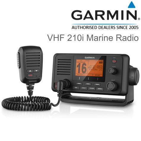 Garmin VHF210i Marine VHF Radio - 25 W | Class D DSC | IPX7 | For Fishermen/ Sailor Thumbnail 1