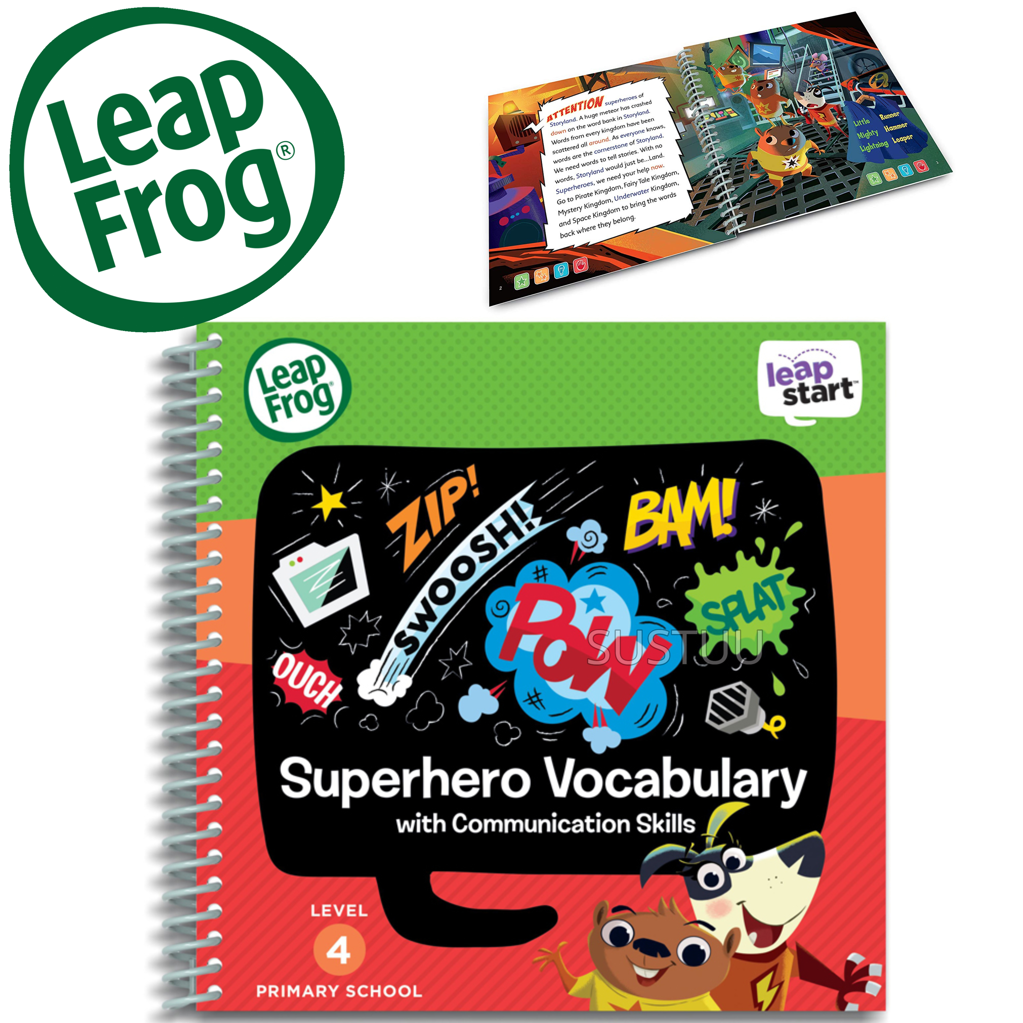 Leap Frog LeapStart Superhero Vocabulary Activity Book | 30+ Replayable Activities | +5 Years