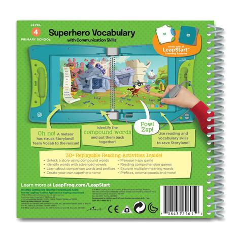 Leap Frog LeapStart Superhero Vocabulary Activity Book   30+ Replayable Activities   +5 Years Thumbnail 3