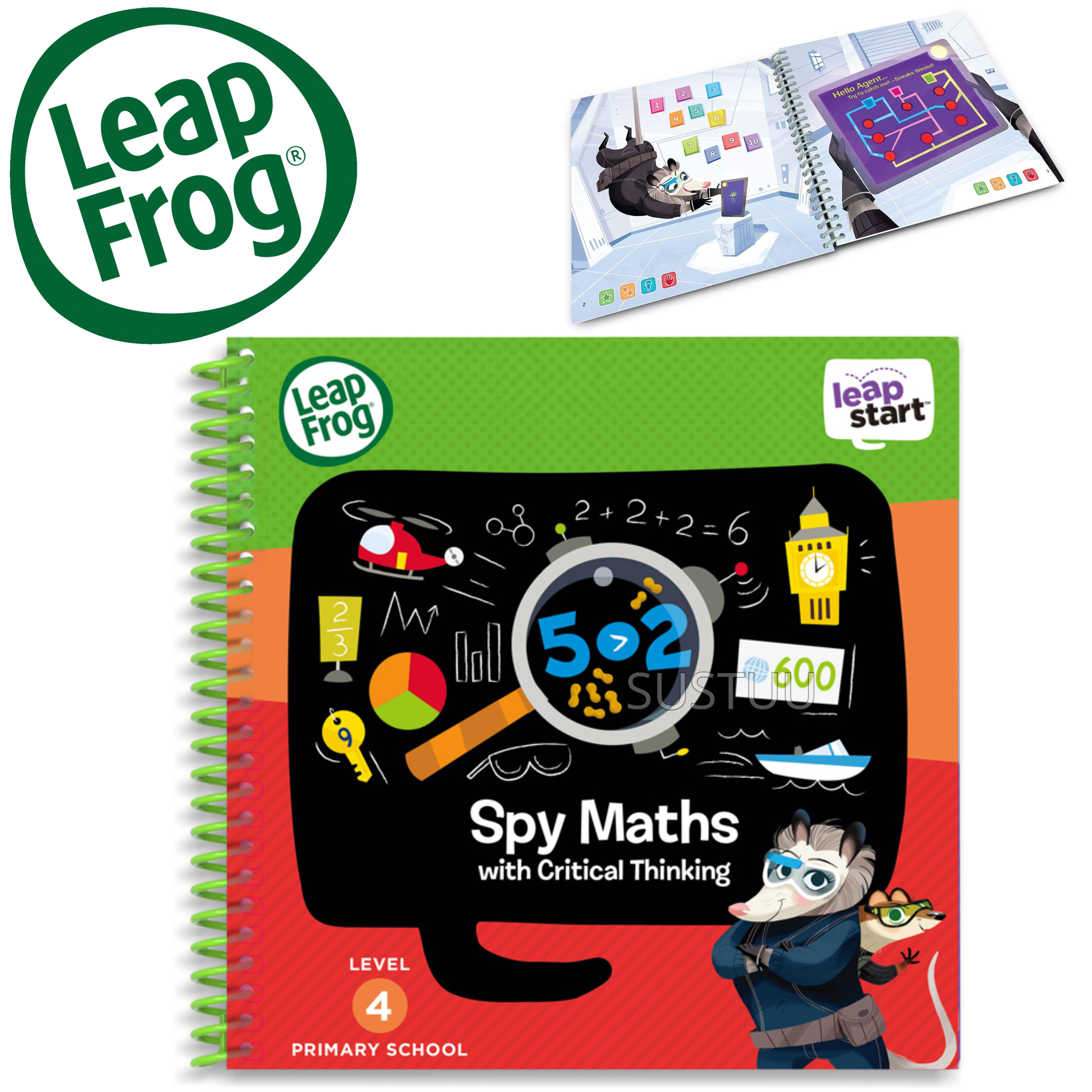 Leap Frog LeapStart Spy Maths Activity Book | 30+ Replayable Activities | +5 Years
