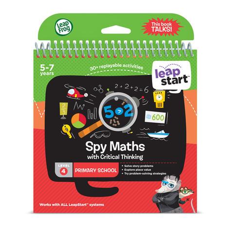 Leap Frog LeapStart Spy Maths Activity Book | 30+ Replayable Activities | +5 Years Thumbnail 3