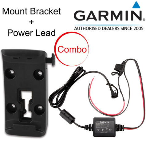 Garmin Motorcycle Mount Bracket Holder+Power Cable | For Zumo 340LM 345LM 350LM 390LM Thumbnail 1