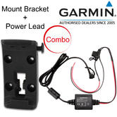 Garmin Motorcycle Mount Bracket Holder+Power Cable | For Zumo 340LM 345LM 350LM 390LM