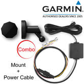 Garmin Low Profile Magnetic Mount+Hard Wire Power Cable | For Dash Cam 45 55 65W