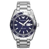 Emporio Armani Sportivo Men's Watch | Navy Blue Dial | Stainless Steel Strap | AR6048