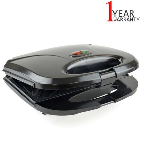 Lloytron 2 Slice Sandwich Toaster | Omelette-Pastry-Toastie Maker | 750W | Black | E2603 Thumbnail 1