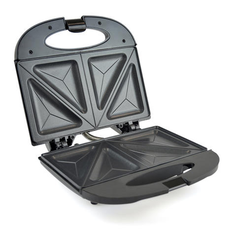 Lloytron 2 Slice Sandwich Toaster | Omelette-Pastry-Toastie Maker | 750W | Black | E2603 Thumbnail 3