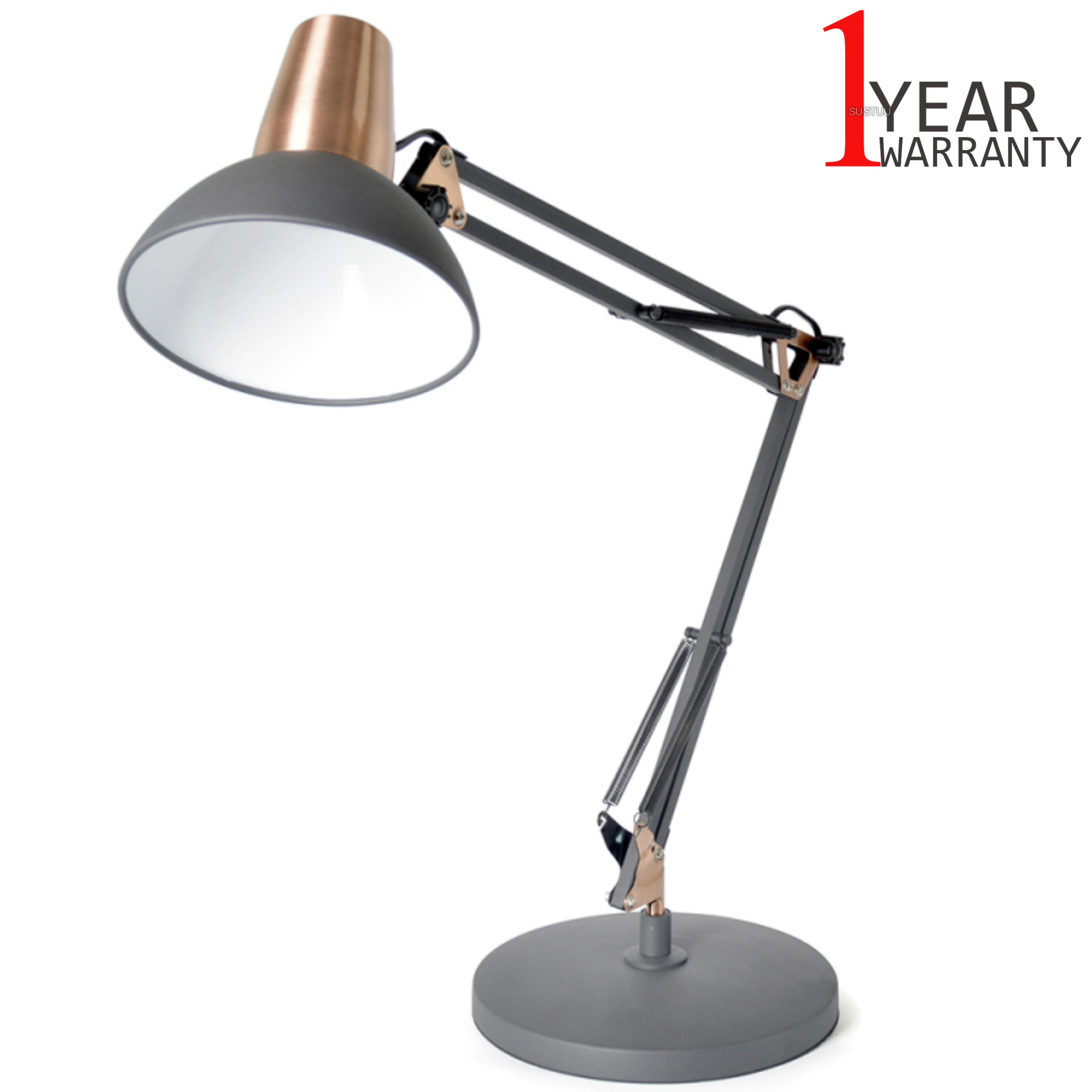 Lloytron 35w Architect Large Desk Lamp | In Line On/Off Switch | Black/Coper | L1124BC
