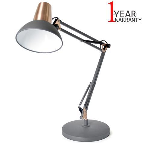 Lloytron 35w Architect Large Desk Lamp | In Line On/Off Switch | Black/Coper | L1124BC Thumbnail 1