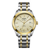 Rotary Legacy Automatic Gents Watch | Champagne Dial | Dual Tone Band | GB90166/03
