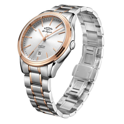 Rotary Tradition Automatic Gents Steel Watch | Dual Tone Bracelet Band | GB90162/59 Thumbnail 2