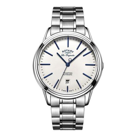 Rotary Tradition Automatic Men's Watch | White Round Dial | Bracelet Band | GB90161/02 Thumbnail 1