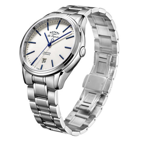 Rotary Tradition Automatic Men's Watch | White Round Dial | Bracelet Band | GB90161/02 Thumbnail 2