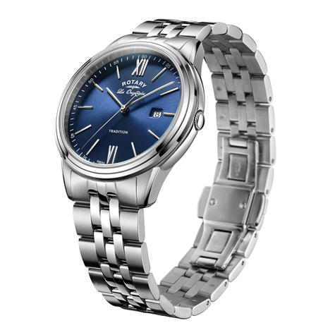 Rotary Tradition Men's Luxury Watch | Blue Analogue Dial | Bracelet Band | GB90194/05 Thumbnail 2
