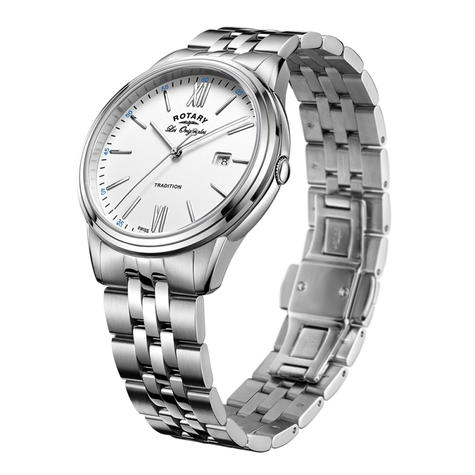 Rotary Tradition Men's Casual Watch | Roman Numerals Dial | Bracelet Band | GB90194/01 Thumbnail 2