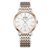 Rotary Windsor Men's Watch   Chronograph Dial   Dual Tone Bracelet Band   GB90191/01