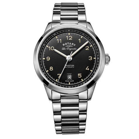 Rotary Tradition Automatic Men's Watch | Black Dial | Steel Bracelet Band | GB90184/19 Thumbnail 1