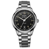 Rotary Tradition Automatic Men's Watch   Black Dial   Steel Bracelet Band   GB90184/19