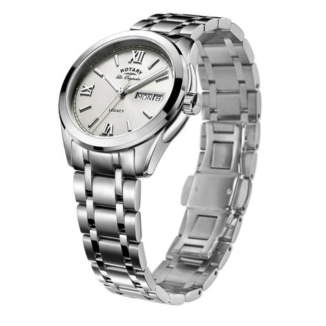 Rotary Legacy Men's Watch   Roman Numerals Dial   Silver Bracelet Band   GB90173/06 Thumbnail 2