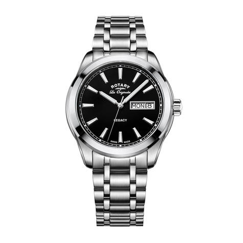 Rotary Legacy Men's Quartz Watch | Black Dial | Stainless Steel Bracelet | GB90173/04 Thumbnail 1