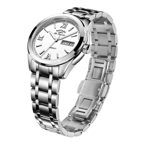 Rotary Legacy Mens Casual Watch | White Round Dial | Steel Bracelet Band | GB90173/01 Thumbnail 2