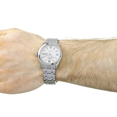 Rotary Legacy Mens Casual Watch   White Round Dial   Steel Bracelet Band   GB90173/01 Thumbnail 3